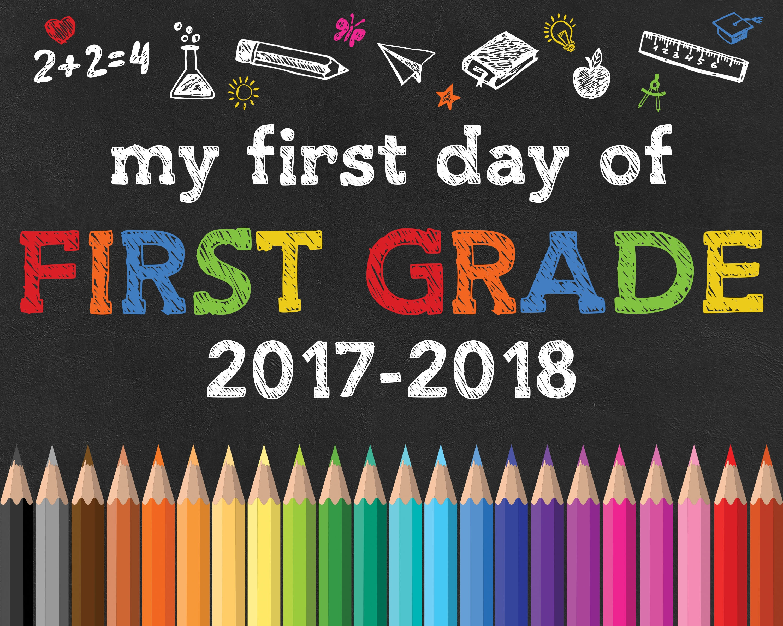 Back To School Free Printable Chalkboard Signs - The Cottage Market - Free Printable First Day Of School Chalkboard Signs