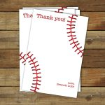 Baseball Thank You Card Printable Baseball Thank You | Etsy   Free Printable Baseball Stationery