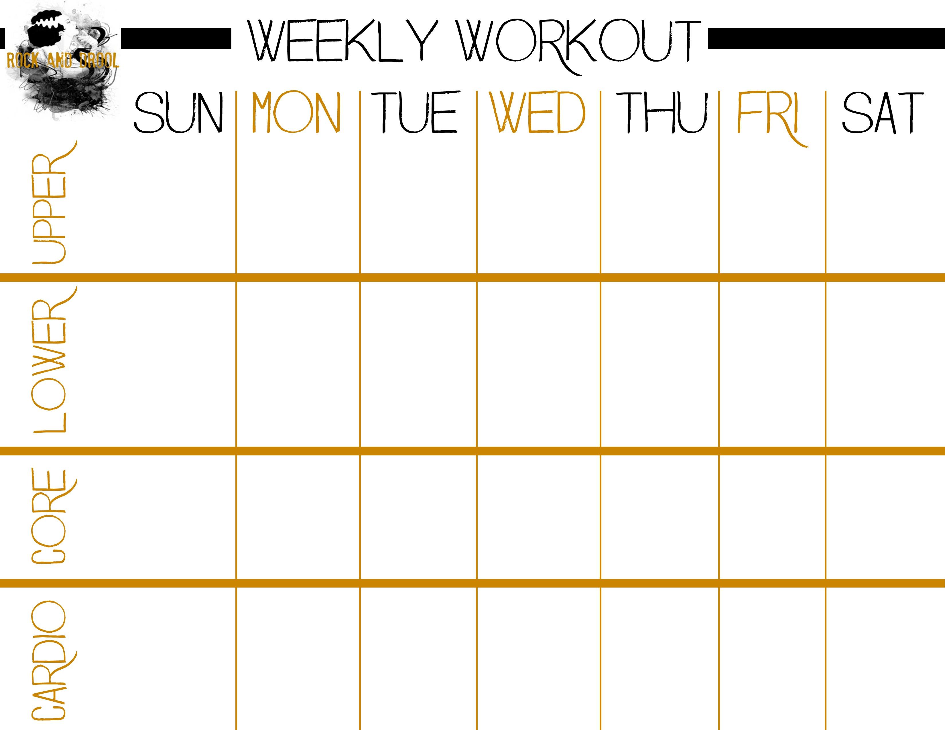 Basic Full Body Workout Plus Free Printable Workout Sheet - Rock And - Free Printable Gym Workout Routines