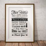 Bathroom Sign Septic System   Do Not Flush Toilet Sign   Pdf Jpg Png   Free Printable Do Not Flush Signs