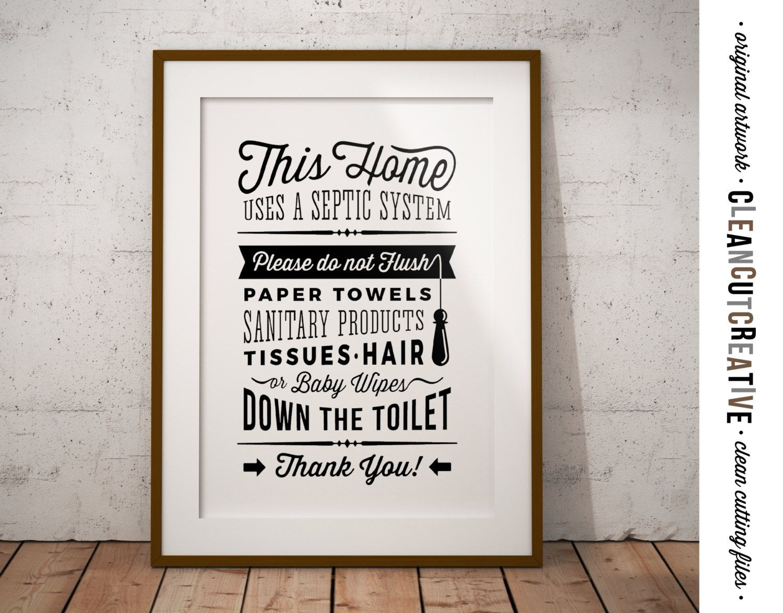 Bathroom Sign Septic System - Do Not Flush Toilet Sign - Pdf Jpg Png - Free Printable Do Not Flush Signs