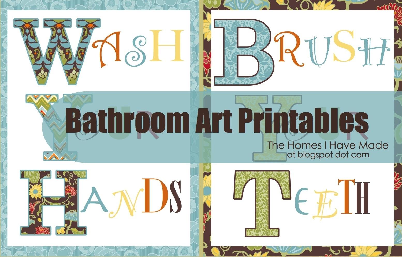 Bathroom Wall Art Printables The Homes I Have Made, Printable Wall - Free Printable Wall Art For Bathroom