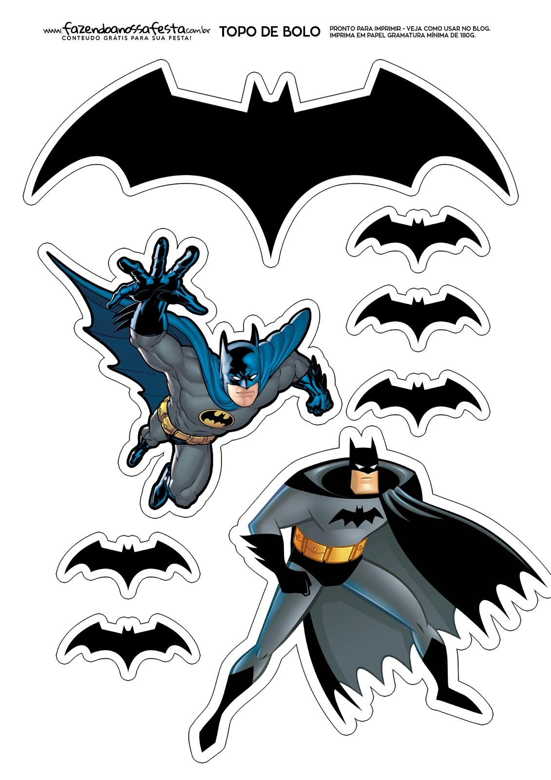 Batman: Free Printable Cake Toppers. - Oh My Fiesta! For Geeks - Batman Cupcake Toppers Free Printable