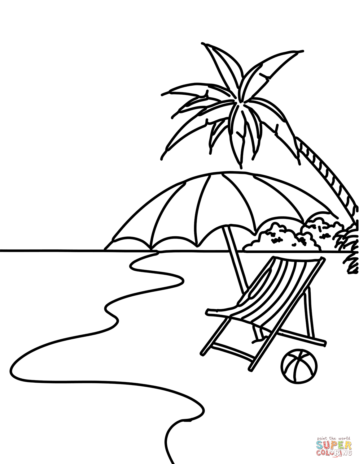 Coloring Pages Beach Theme New Free Printable Beach Coloring