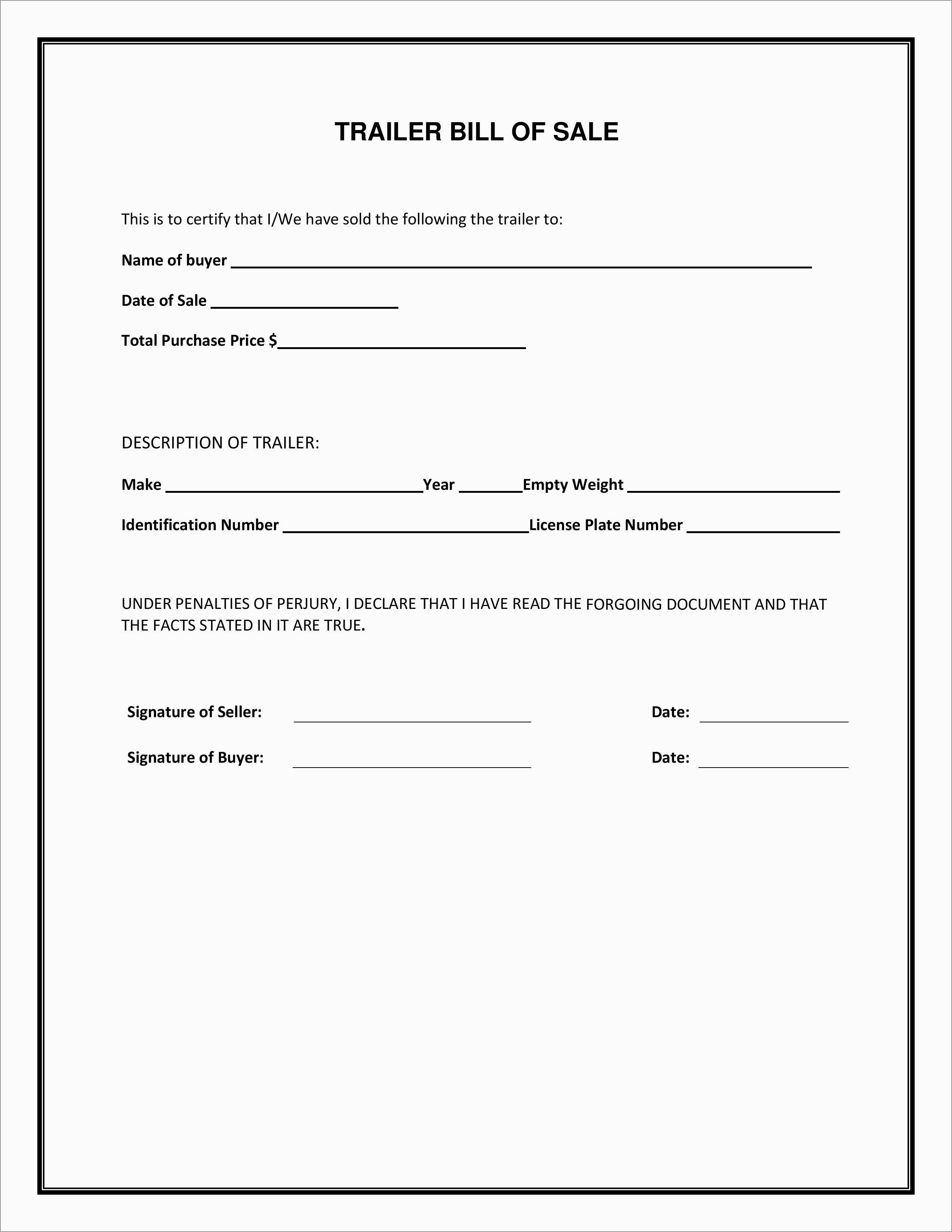 Beautiful Bill Of Sale Free Template Form | Best Of Template - Free Printable Bill Of Sale