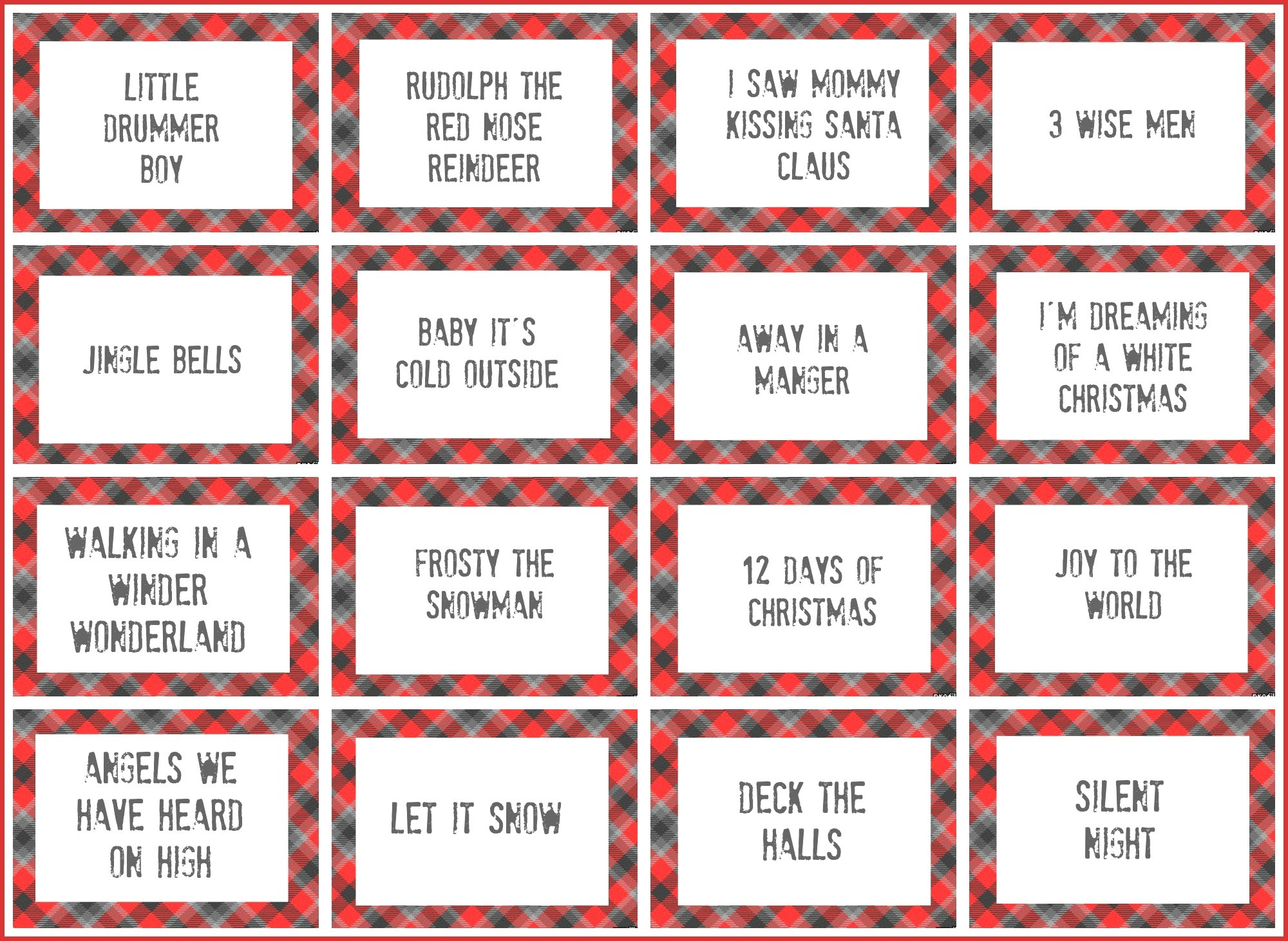 Beautiful Christmas Pictionary | Dos Joinery - Free Printable Christmas Pictionary Cards