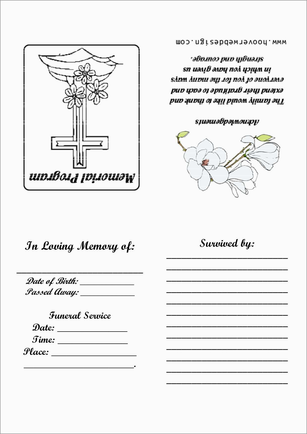Beautiful Free Memorial Card Template | Best Of Template - Free Printable Memorial Card Template