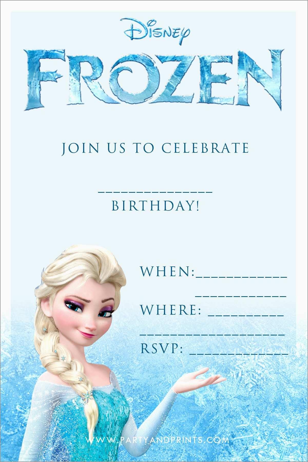 Beautiful Free Printable Frozen Invitations Templates | Best Of Template - Free Printable Frozen Birthday Invitations