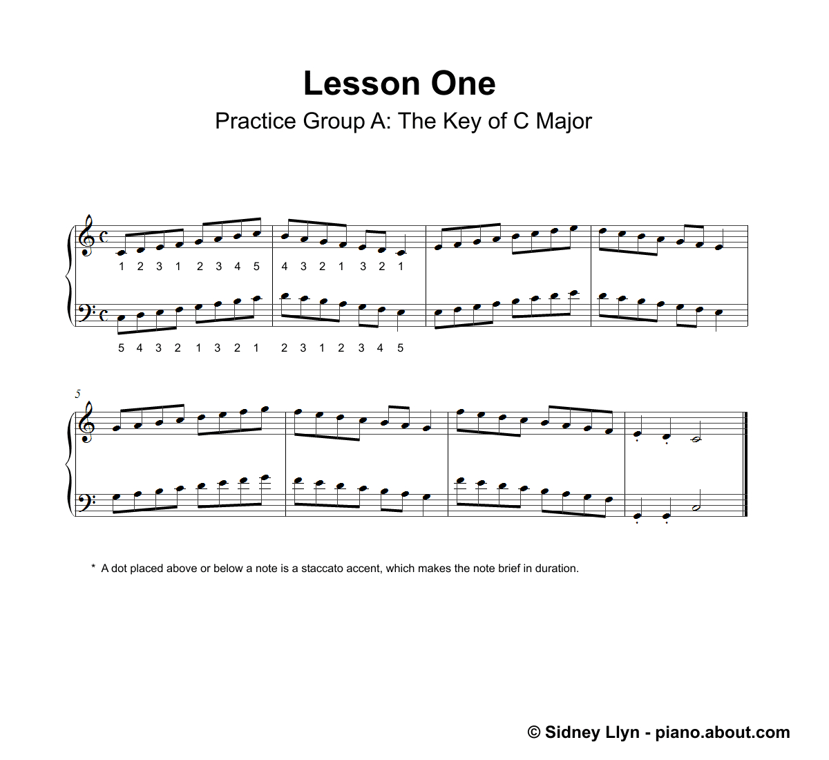 Beginner Piano Lesson Book - Free Printable Sheet Music For Piano Beginners Popular Songs