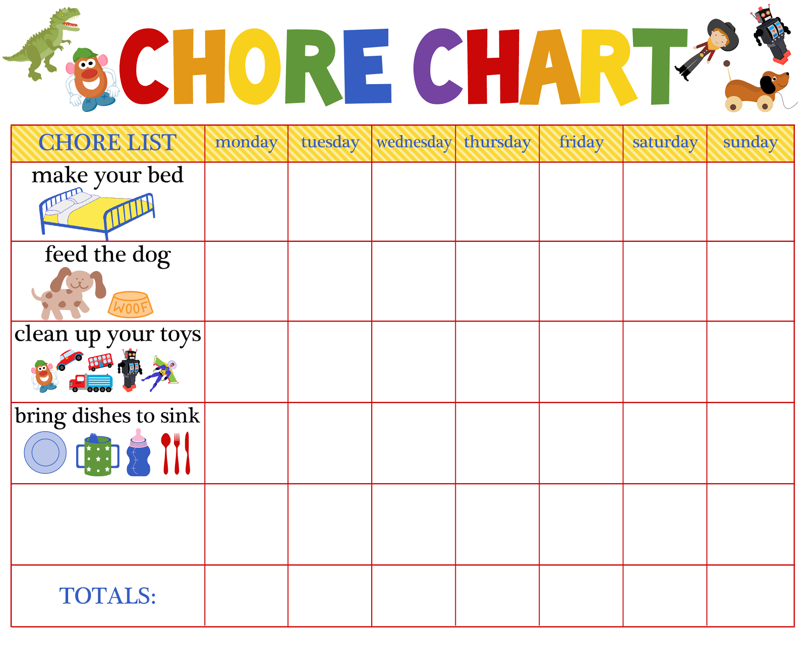 Behaviour Charts For 6 Year Olds | Kiddo Shelter | Printable Reward - Free Printable Chore Charts For 7 Year Olds