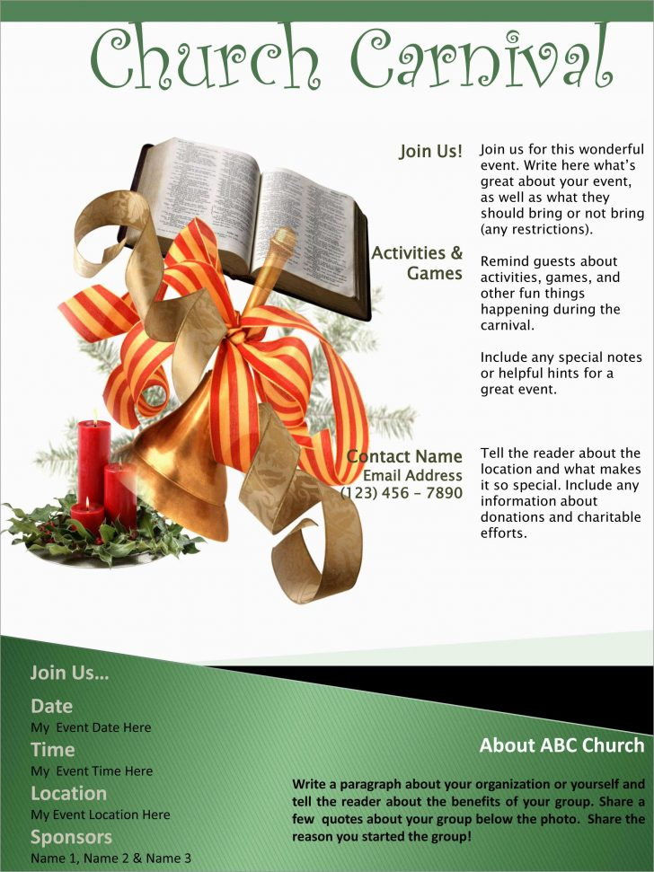 Free Printable Flyers For Church