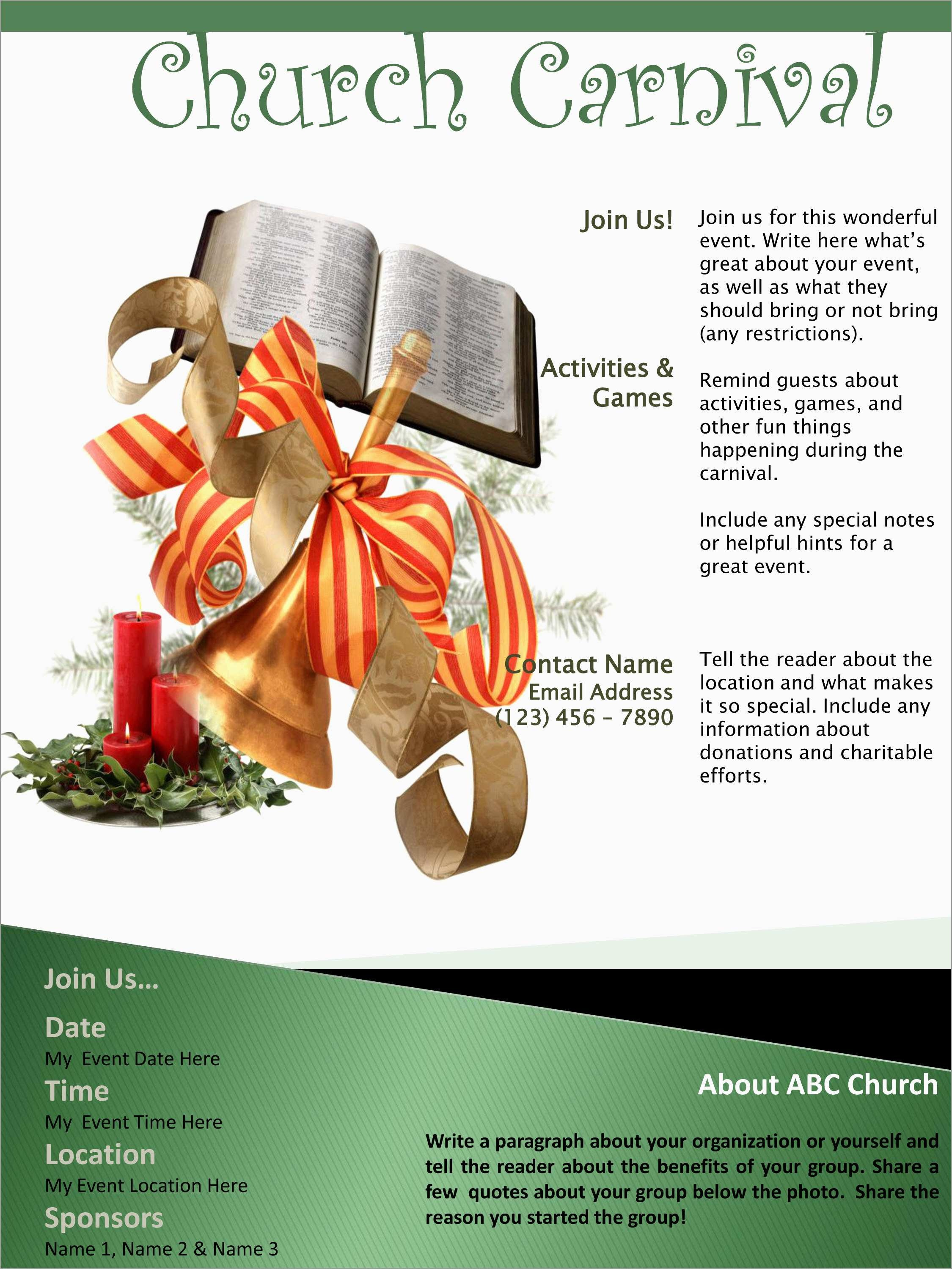 Best Of Free Church Flyer Templates Microsoft Word   Best Of Template - Free Printable Flyers For Church