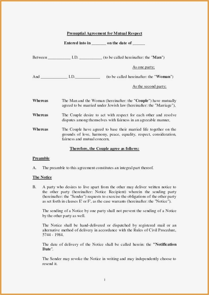 Best Of Free Printable Prenuptial Agreement Form At Models Form Ideas - Free Printable Prenuptial Agreement Form