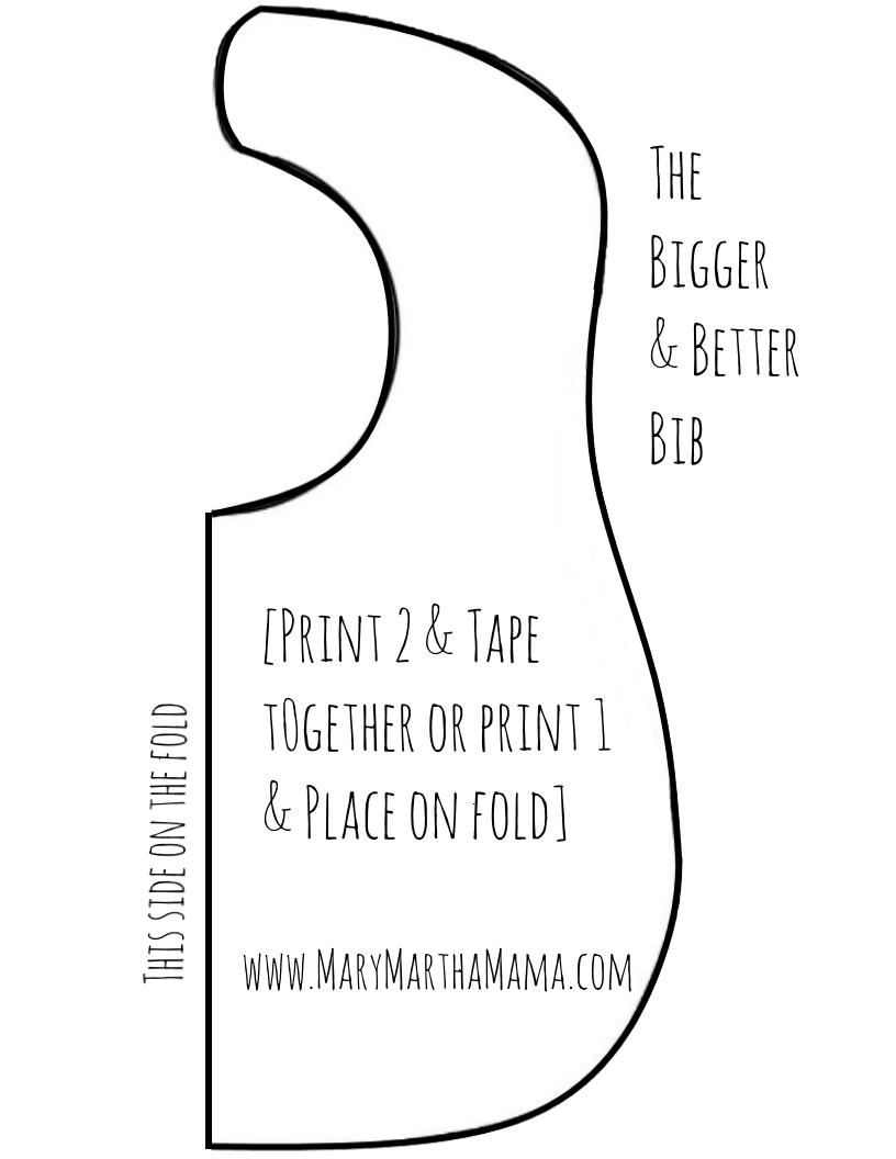 Bib Pattern For Beginners: You Can Make This! – Mary Martha Mama - Free Printable Bib Pattern