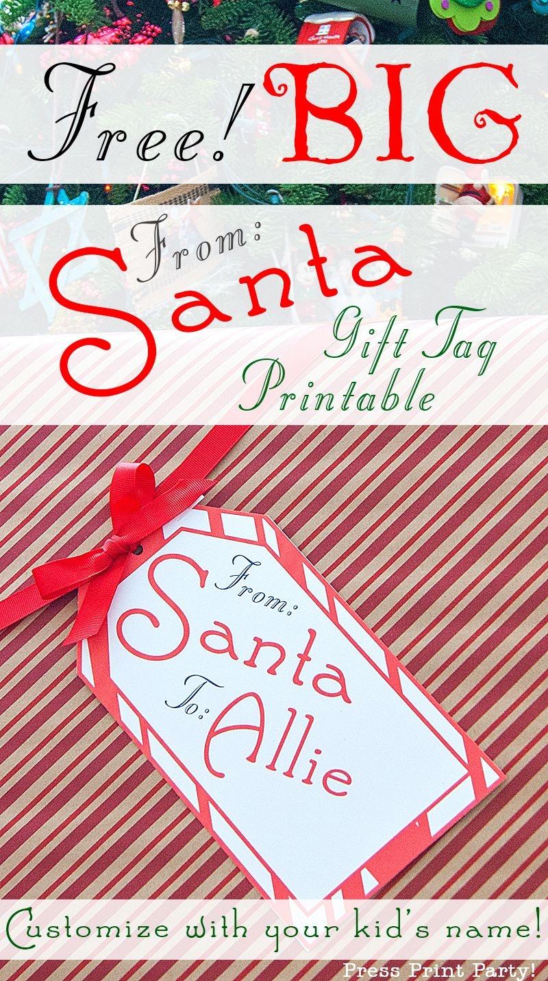 Big Free Printable Christmas Gift Tag - Press Print Party - Printable Gift Tags Customized Free