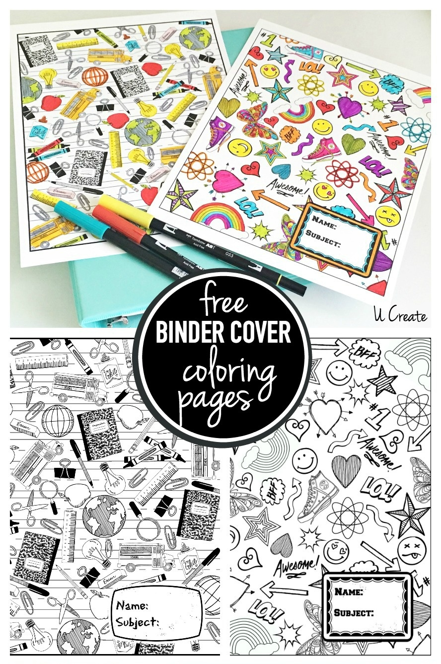 Binder Cover Coloring Pages - Free Printable Binder Covers To Color
