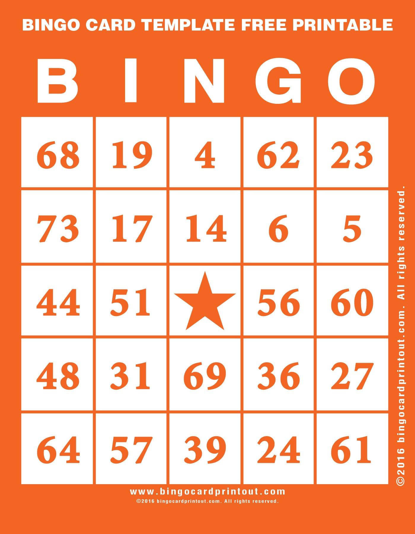 Bingo Card Template Free Printable - Bingocardprintout - Printable Bingo Template Free
