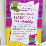 Birthday Invitation. Mad Hatter Tea Party Birthday Invitations   Mad Hatter Tea Party Invitations Free Printable