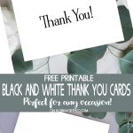 Black & White Thank You Cards   Free Printable   Kleinworth & Co   Free Printable Thank You Cards Black And White