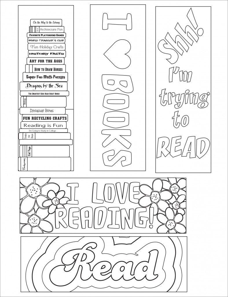 Blank Bookmark Template, Bookmark Template | Bookmarker Ideas - Free Printable Bookmarks