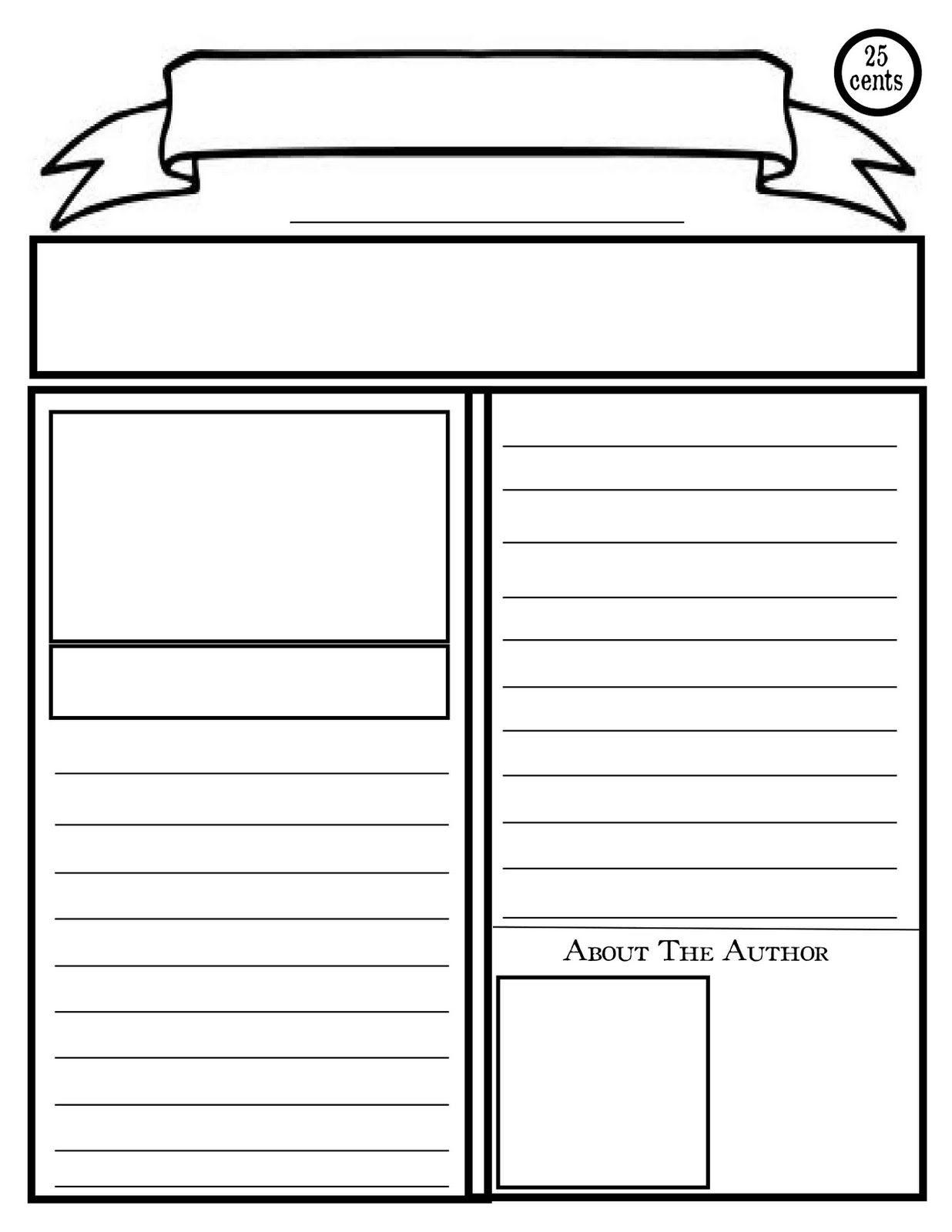 Blank Newspaper Template For Kids Printable | Homework Help - Free Printable Homework Templates