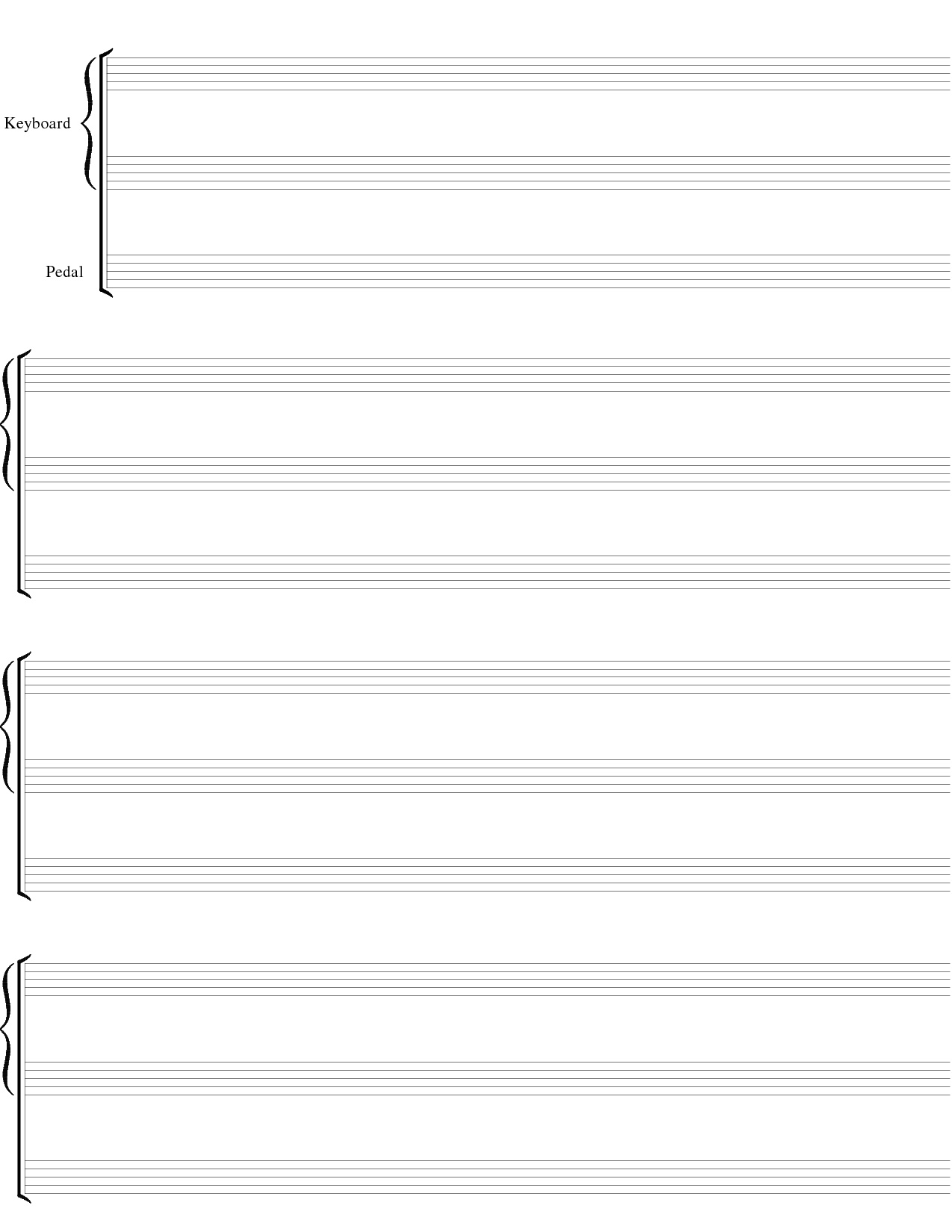 Blank Sheet Music Png & Free Blank Sheet Music Transparent - Free Printable Blank Music Staff Paper