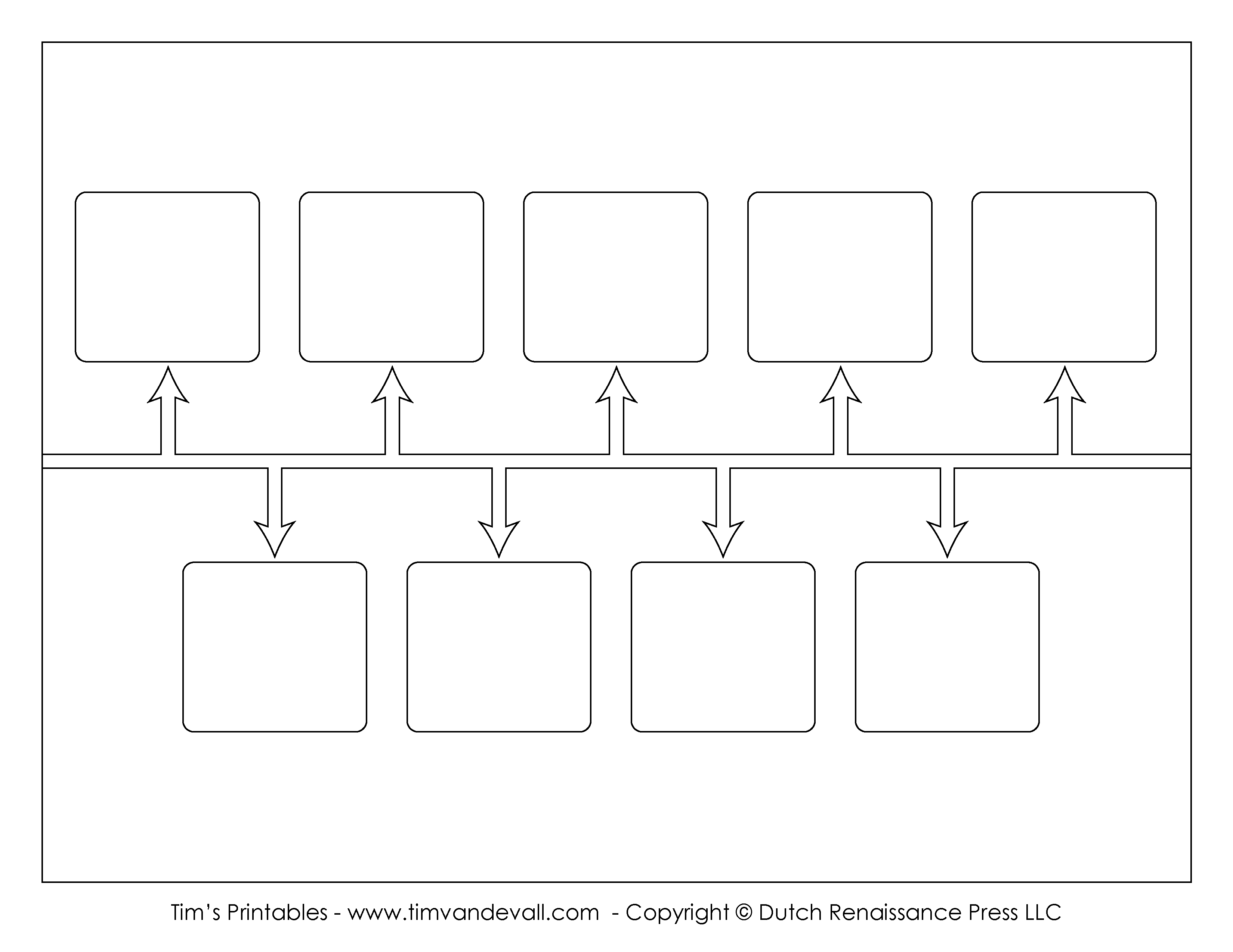 Blank Timeline Template - Tim's Printables - Free Blank Timeline Template Printable