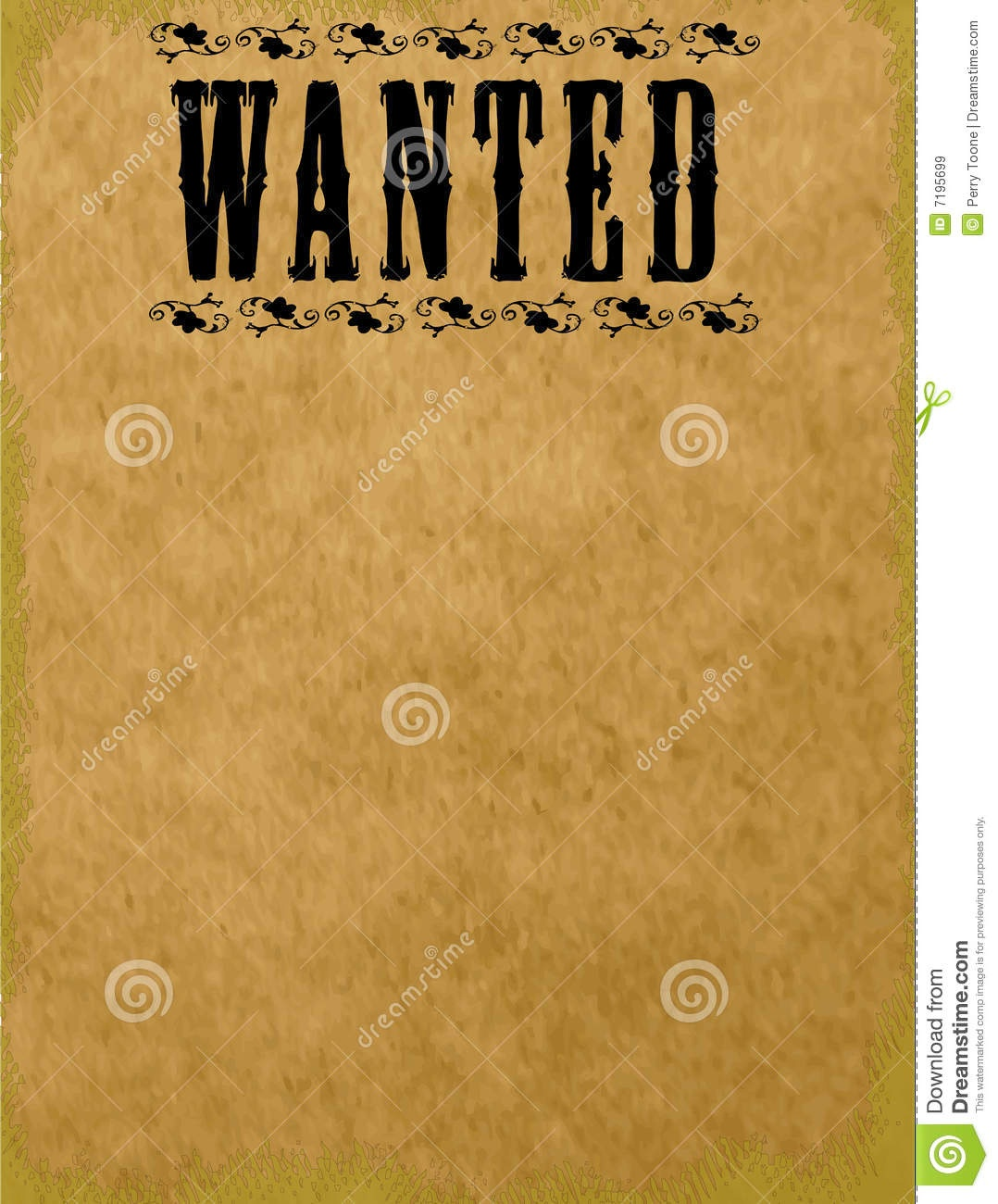Blank Wanted Poster Stock Illustration. Illustration Of Hunt - 7195699 - Wanted Poster Printable Free