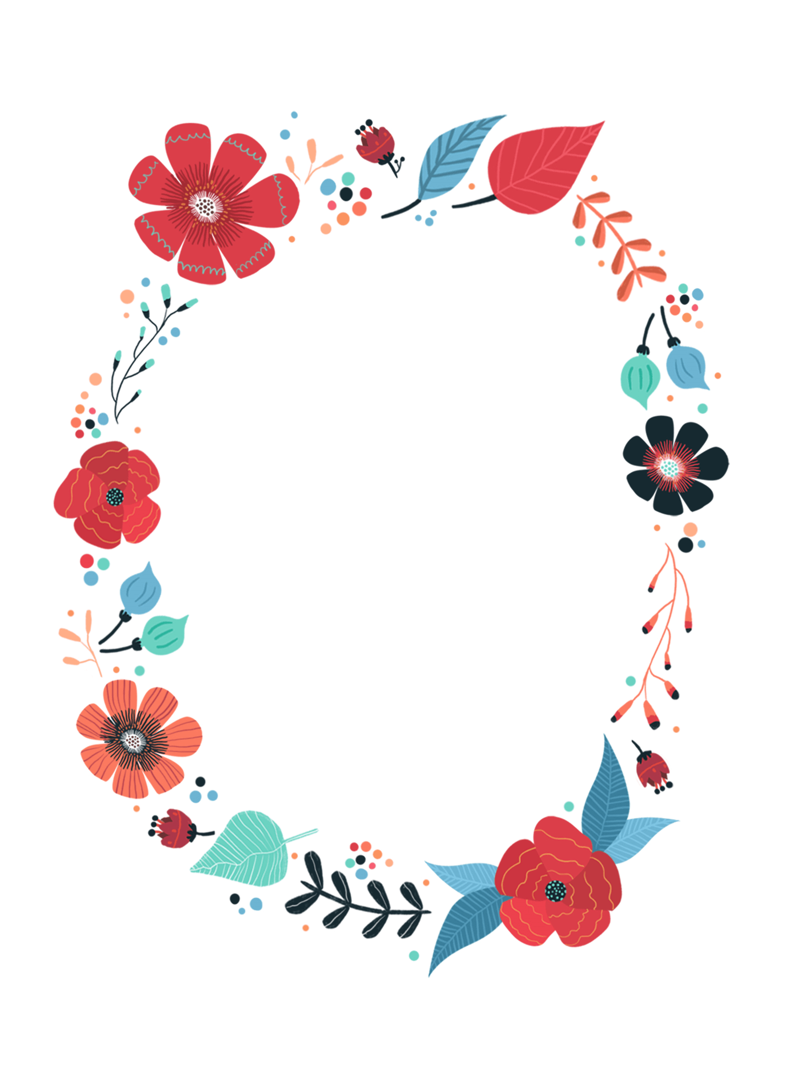 Blooming Wreath - Free Printable Birthday Invitation Template - Free Printable Birthday Invitations Pinterest