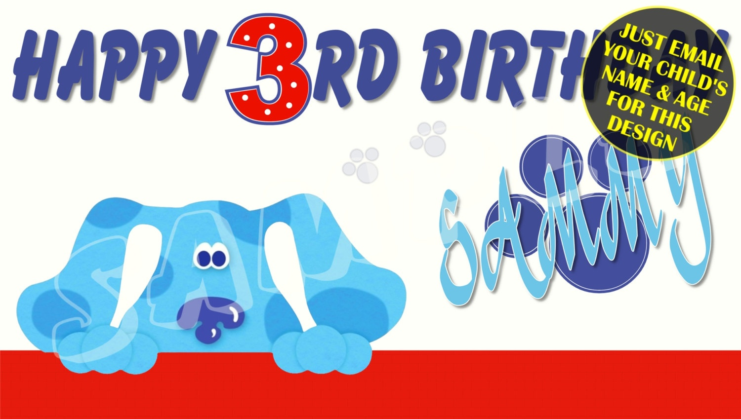 Blues Clues Personalized Birthday Banner With Free Printable | Etsy - Blue's Clues Invitations Free Printable