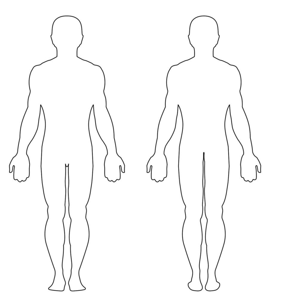 Body Sketch Outline At Paintingvalley | Explore Collection Of - Free Printable Human Body Template