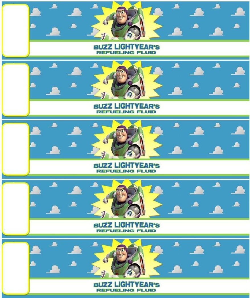 Bottle Labels | Buzz Lightyear Party En 2019 | Toy Story Birthday - Free Printable Toy Story Water Bottle Labels