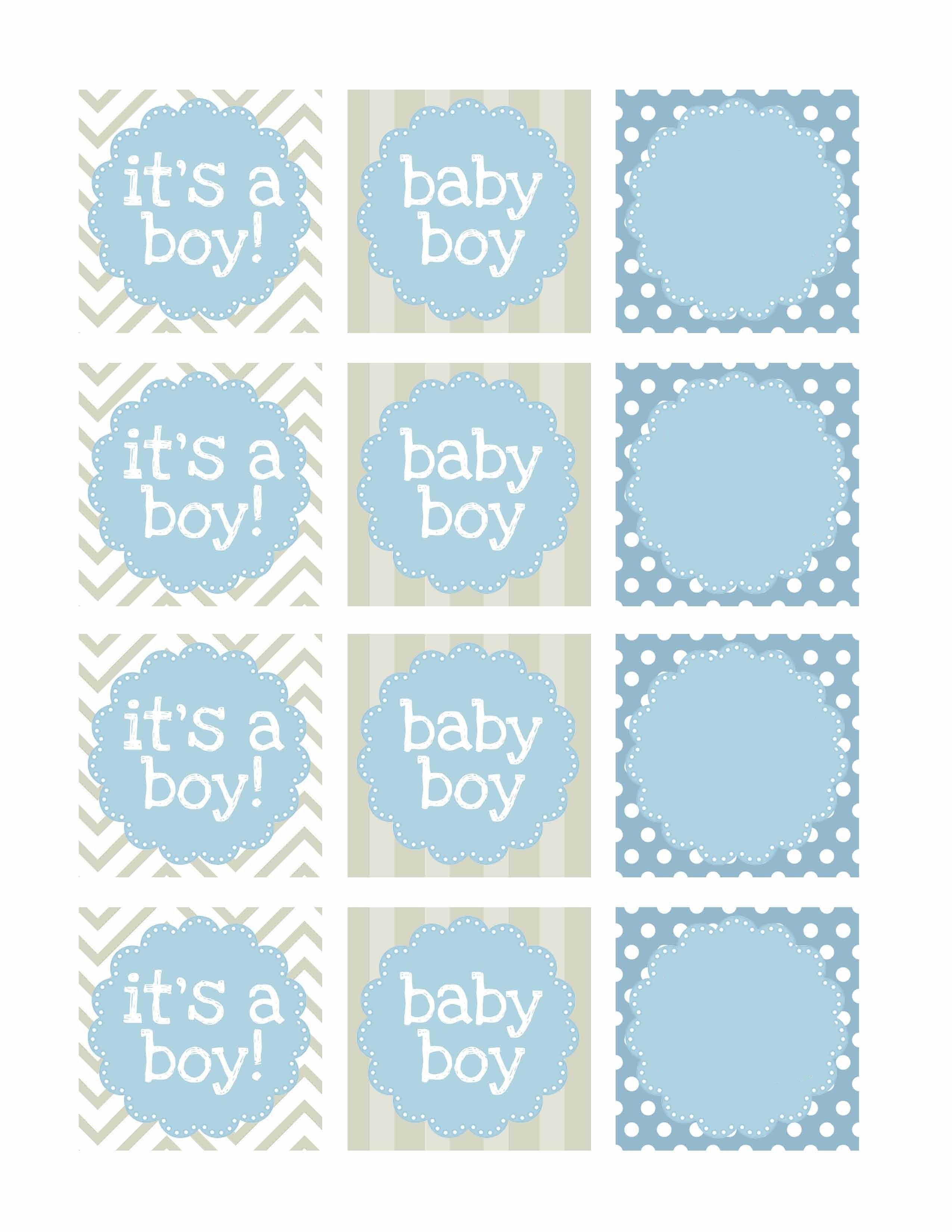 Boy Baby Shower Free Printables | Baby Shower | Baby Shower Labels - Baby Shower Bunting Free Printable