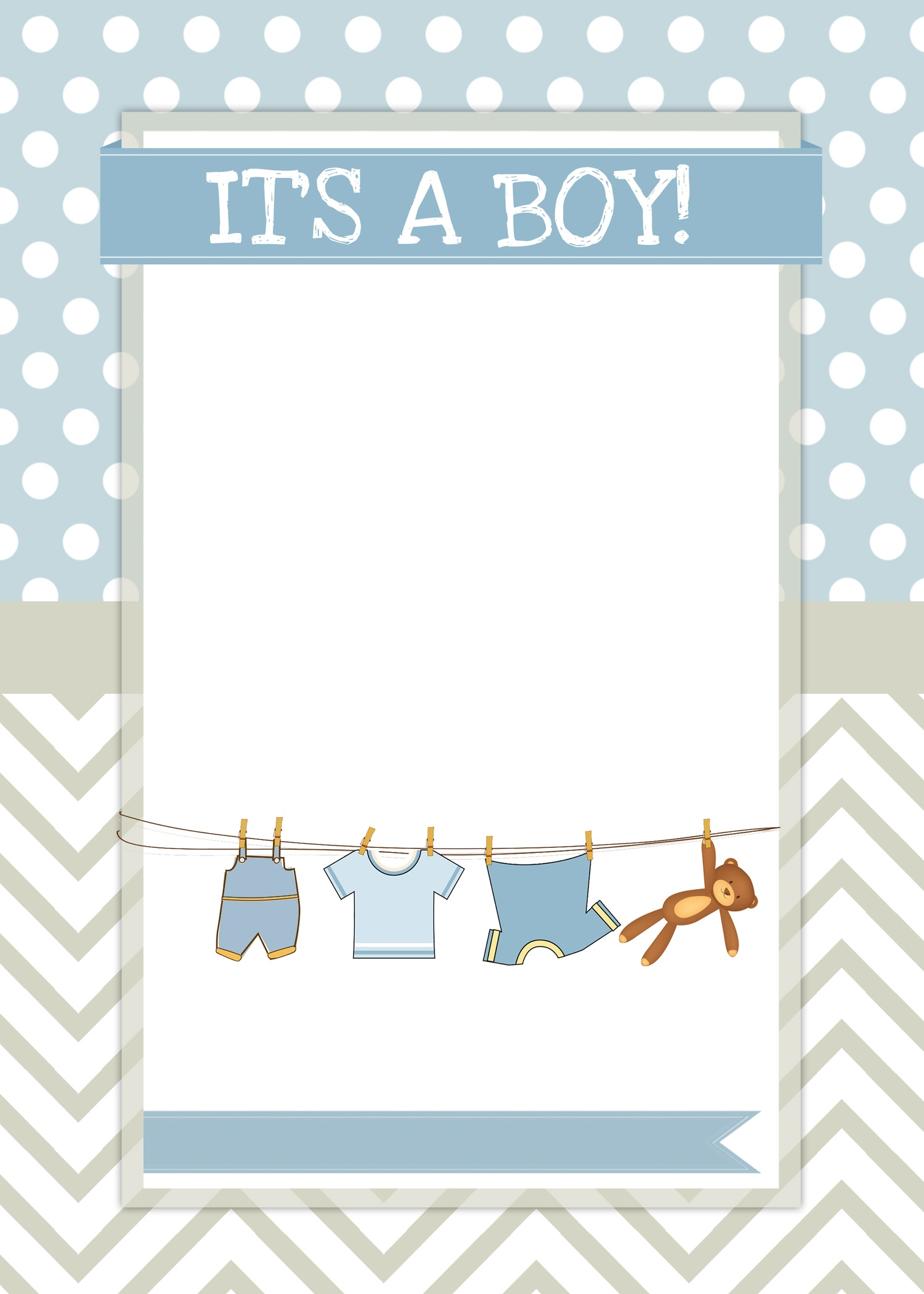 Boy Baby Shower Free Printables - How To Nest For Less™ - Free Printable Baby Shower Card