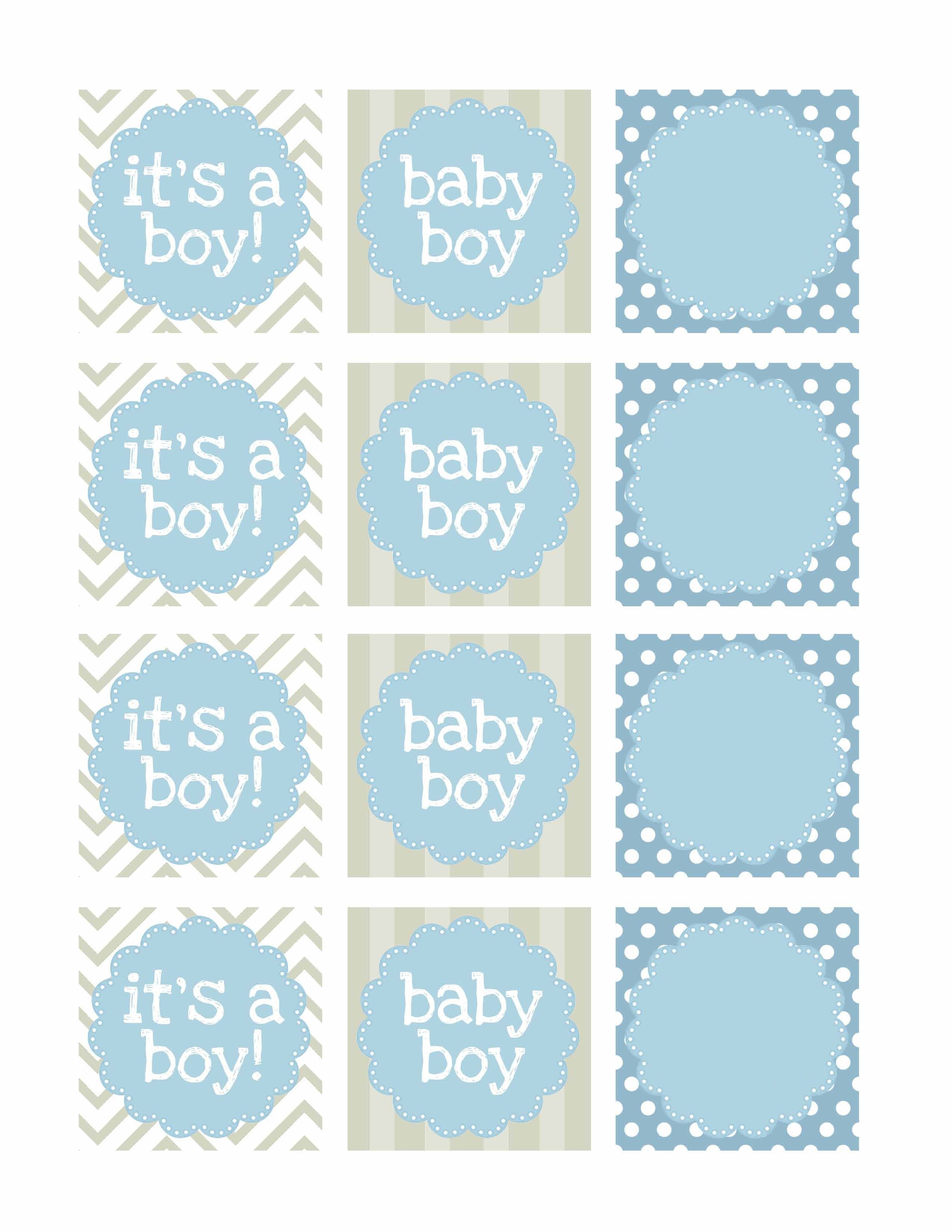 Boy Baby Shower Free Printables | Printable | Návody, Nápady, Tisk - Free Printable Baby Shower Favor Tags