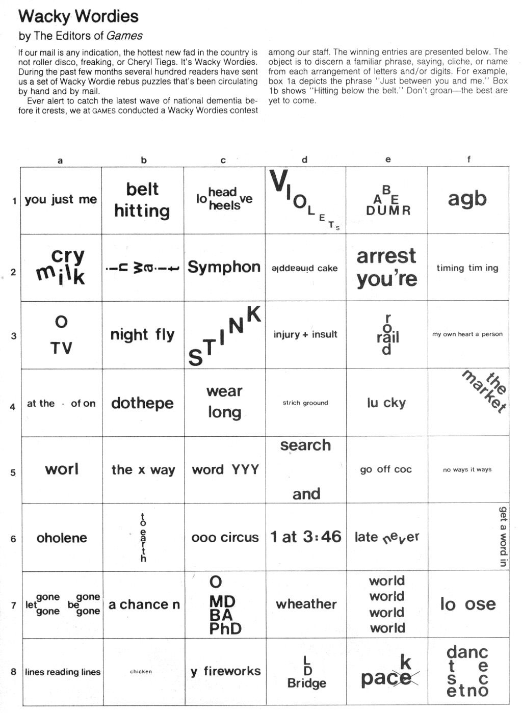 Brain Teasers: Wackie Wordies   School Stuff   Word Puzzles, Brain - Free Printable Brain Teasers Adults