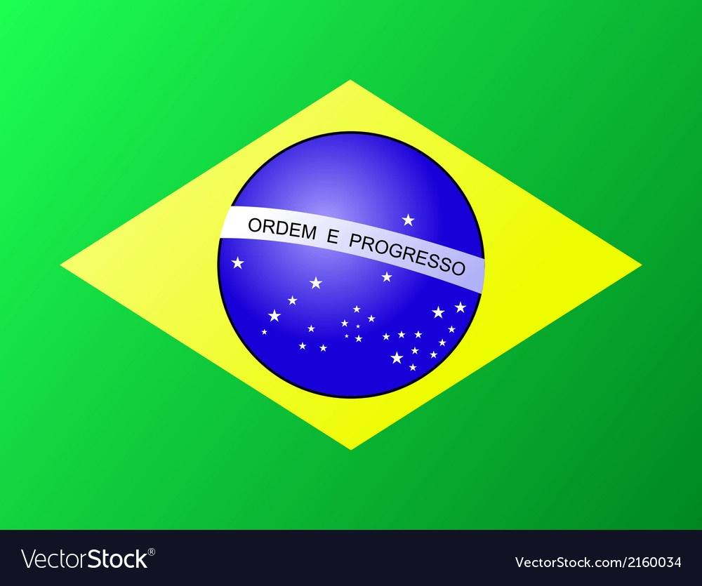 Brasil Brazil Flag Royalty Free Vector Image - Vectorstock - Free Printable Brazil Flag