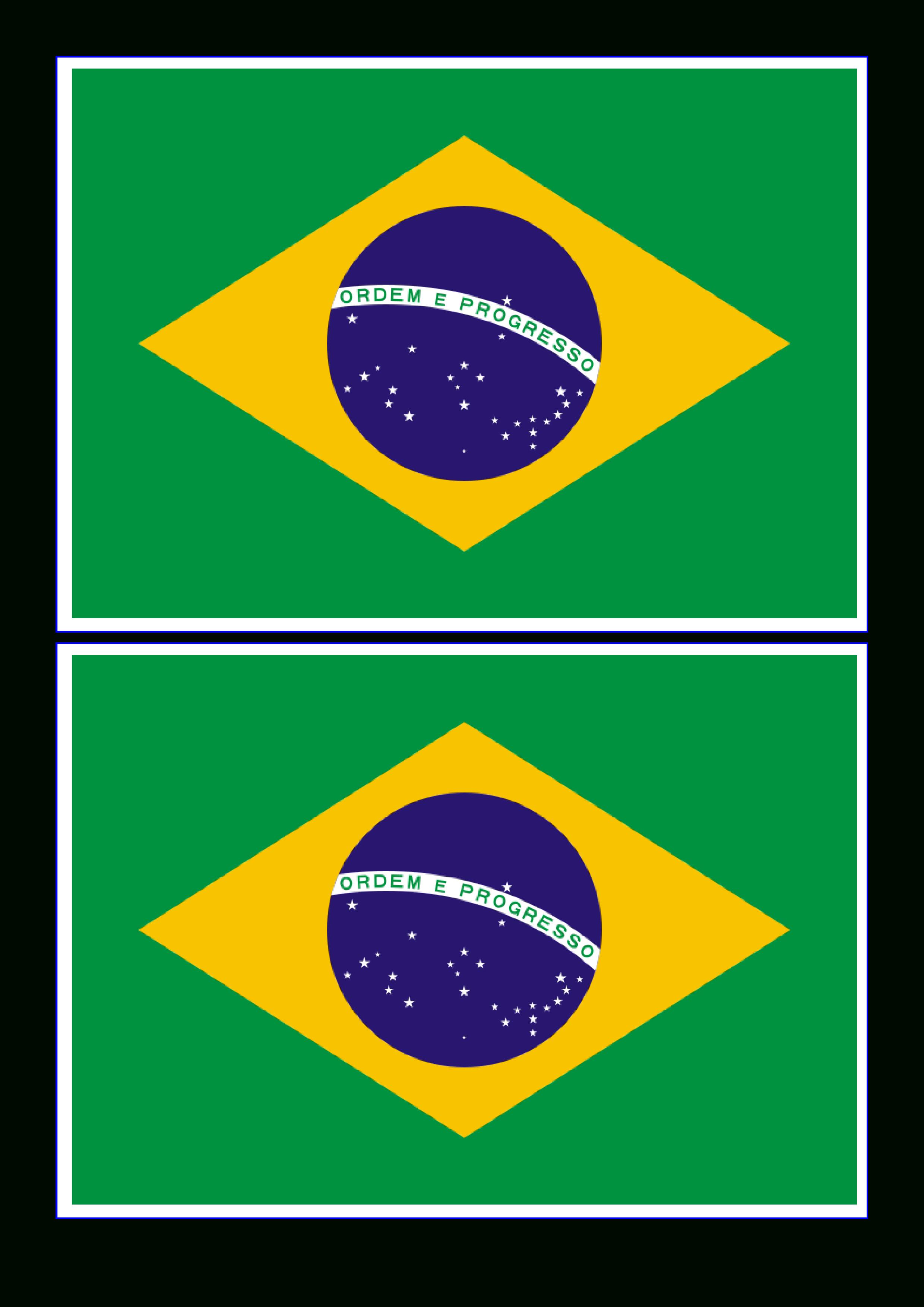 Brazil Flag - Free Printable Brazil Flag | Templates | Brazilië - Free Printable Brazil Flag