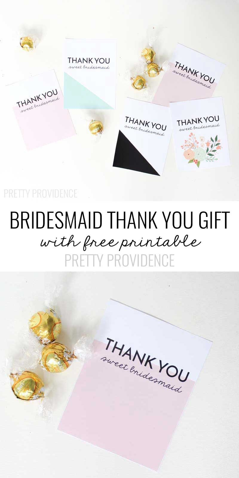 Bridesmaid Thank You Gift Printable | Michaels Weddings | Bridesmaid - Free Personalized Thank You Cards Printable