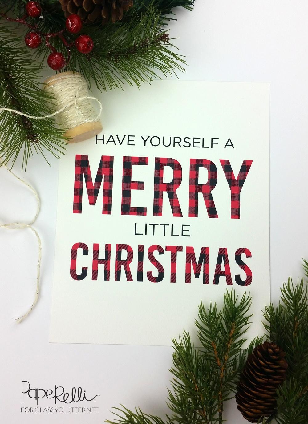 Buffalo Check Plaid Christmas Print - Classy Clutter - Free Printable Christmas Decorations