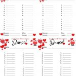 Bunco Free Printable Valentine's Fondue Champagne Score Sheet   Free Printable Bunco Game Sheets