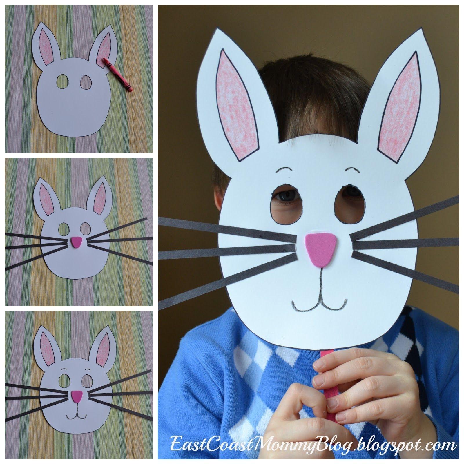 Bunny Mask {Preschool Craft} | Kid Blogger Network Activities - Free Printable Easter Masks