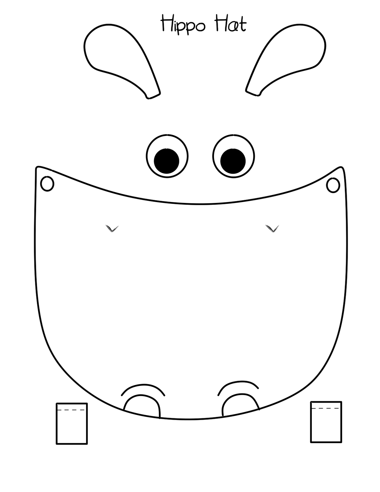 Bust Out Your Crayons: Hippo Hat Free Printable | Hippo Party Ideas - Free Printable Hippo Mask