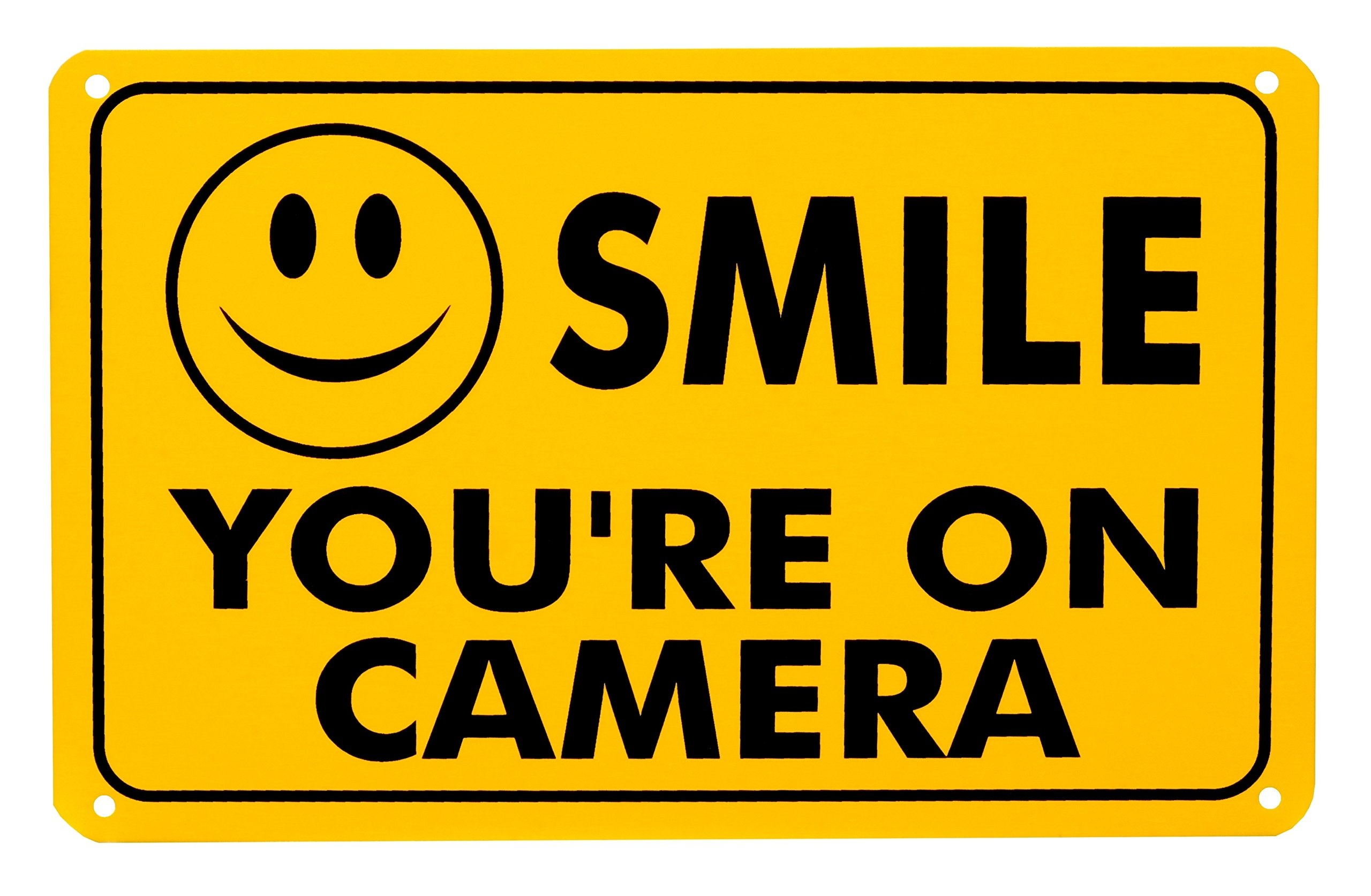 Buy Smile You're On Camera Rust Free Outdoor Waterproof Fade - Free Printable Smile Your On Camera Sign