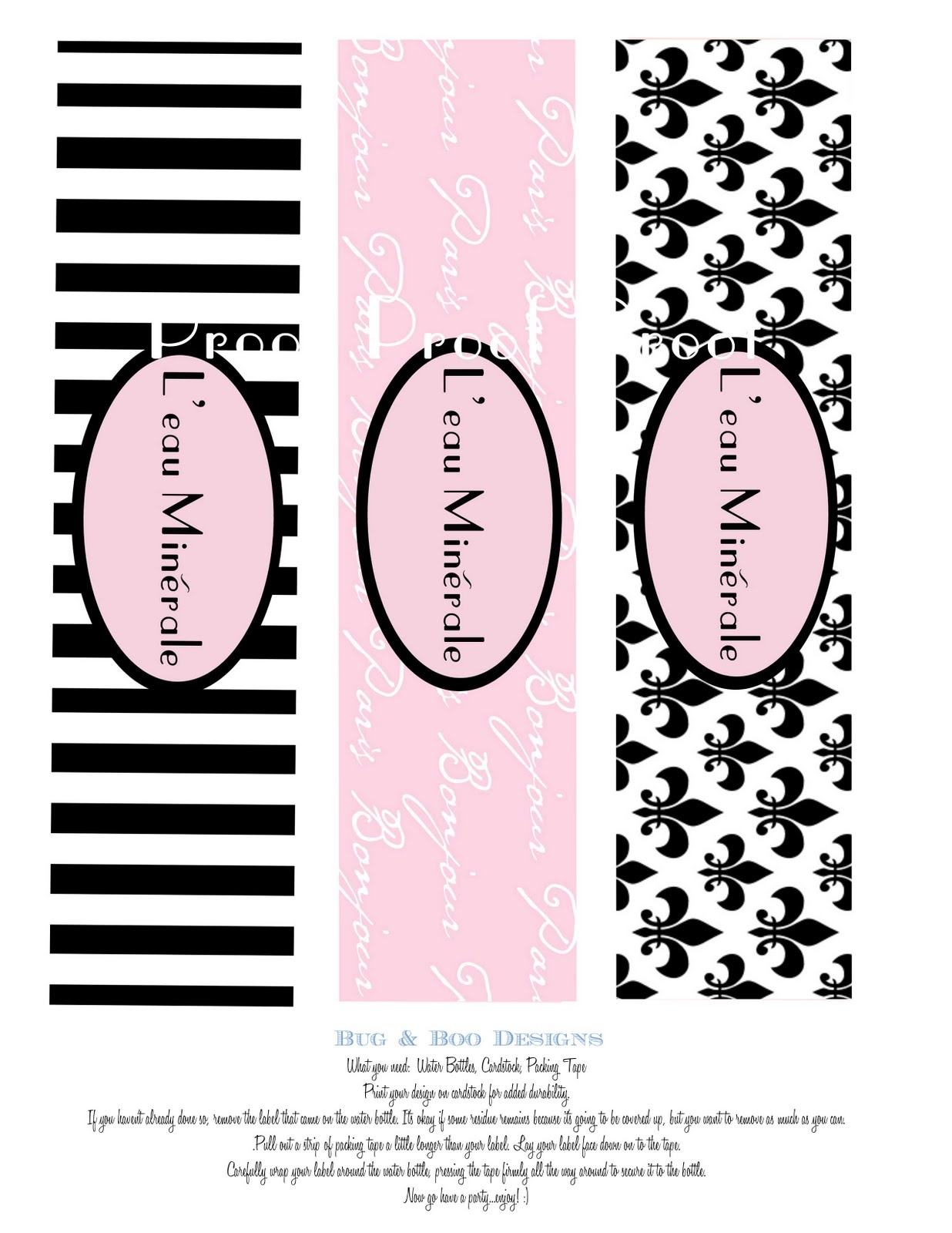 Cake Face Toppers: Paris Party Printables! - Free Printable Paris Water Bottle Labels
