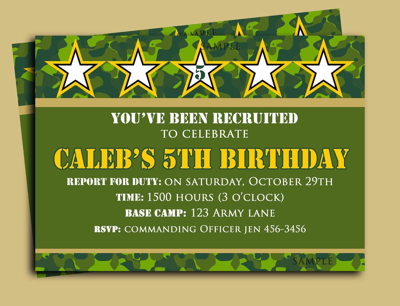 Camouflage Birthday Invitation Printable Or Printed With Free   Etsy - Free Printable Camouflage Invitations