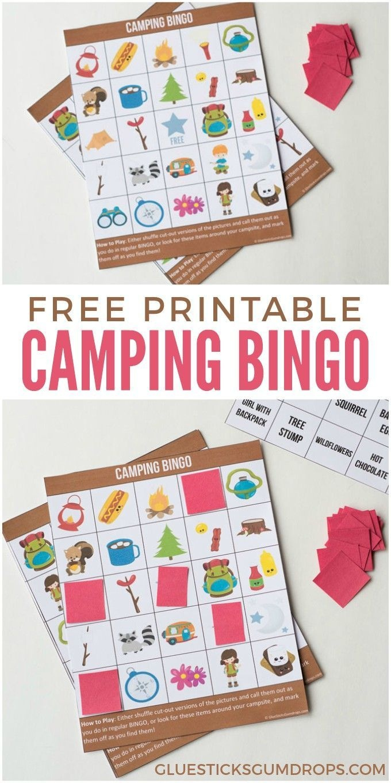 Camping Bingo Free Printable Cards | Free Printables | Camping Bingo - Free Printable Camping Games