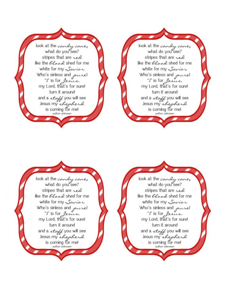 Free Printable Candy Cane Poem