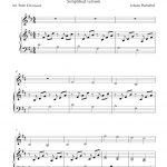 Canon In D (Simplified Version), Free Violin And Piano Sheet Music Notes   Canon In D Piano Sheet Music Free Printable