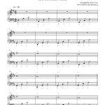 Canon In Dpachelbel Piano Sheet Music | Intermediate Level   Canon In D Piano Sheet Music Free Printable